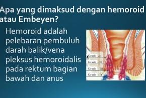 Video Tentang Hemoroid atau Wasir atau Ambeyen